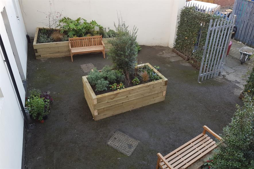 The new garden at Walking With The Wounded's North East Regional Service Hub - credit: Ground Control