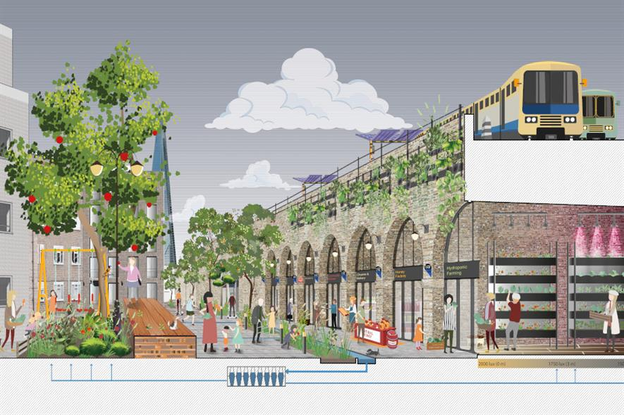 PDP London design rendering of Enid Street, Bermondsey - image: RIBA