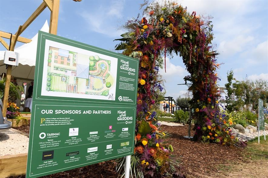 Thousands of visitors stopped by WCG's show garden to take photos under its outstanding floral arch