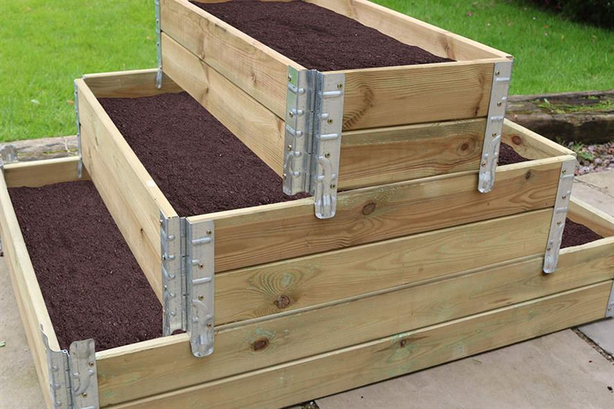 Zest 4 Leisure 3 tier stackable raised bed - credit: Zest 4 Leisure