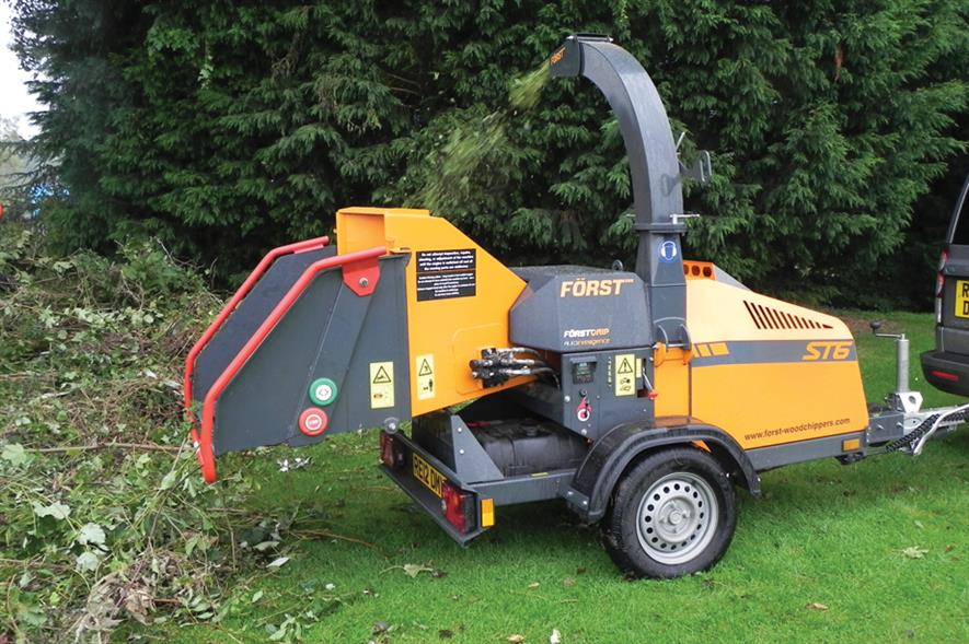 Woodchippers: ideal for clearing up after tree work and land-clearance operations