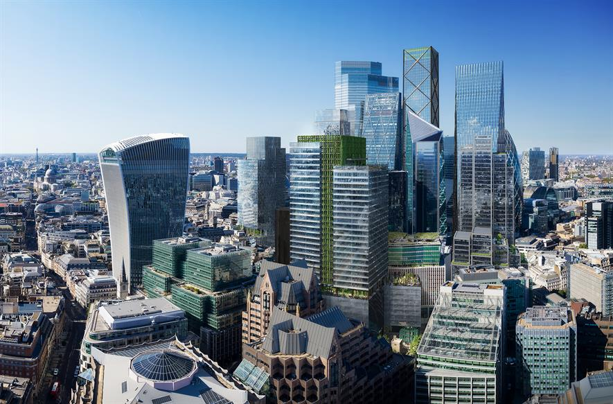 Proposed 50 Fenchurch Street development - image: DBOX, courtesy of Eric Parry Architects