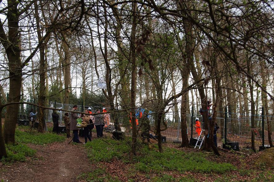 Protestors at Jones' Hill Wood - credit: flickr/djim (CC BY 2.0)