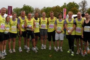 The Landform Consultants team celebrate their run. Pic: Landform Consultants