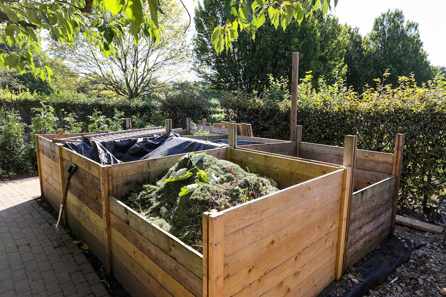 """The compost bays - the """"beating heart"""" of the organic garden"""