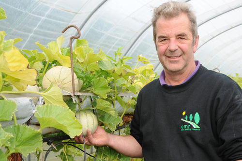 EMR's Graham Caspell with the melons - Image: EMR