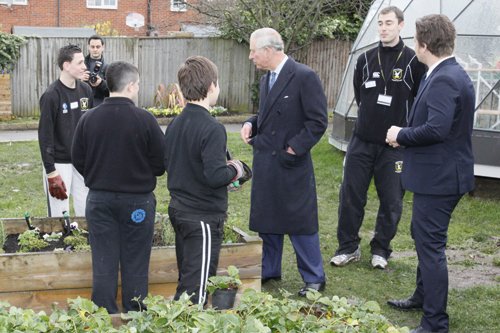 Prince Charles visited the college - image: Carshalton