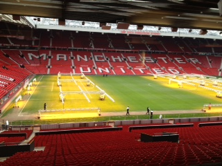 Lighting rigs at Old Trafford: Image HW