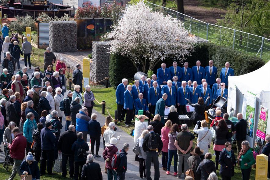 Crowds at RHS Flower Show Cardiff 2019 - credit: RHS/Jason Ingram