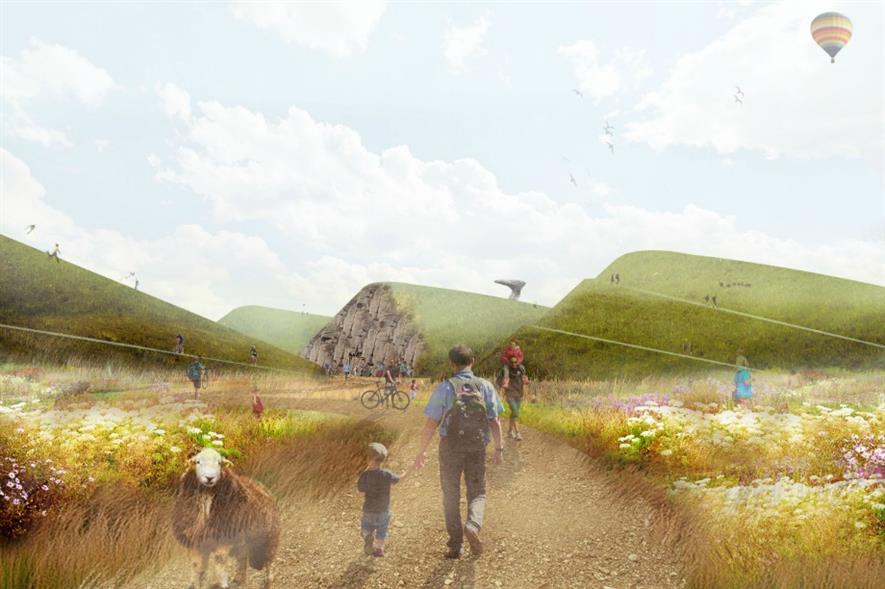 Landform scultping is part of Aecom's shortlisted design for Moorside power station. Image: Aecom