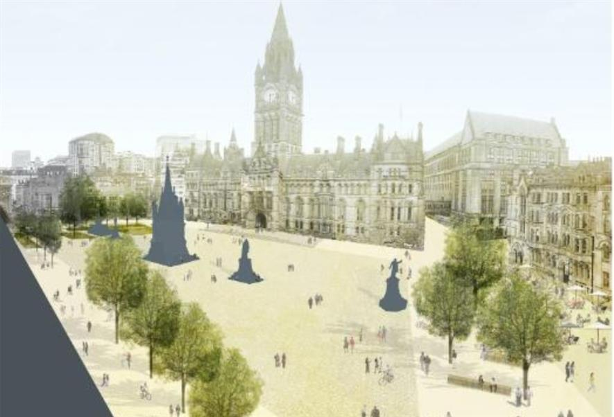 Artist's impression for new-look Albert Square. Image: Manchester City Council