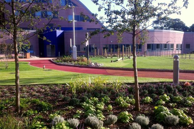 Landscaping at Alder Hey was completed by Ground Control in 2015. Image: Ground Control