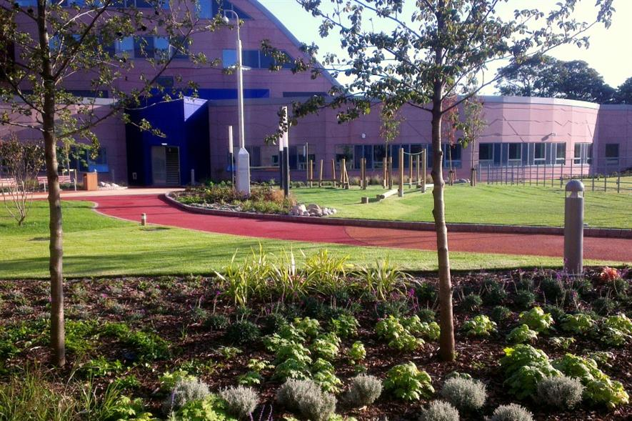 Alder Hey Children's Hospital with landscaping by Ground Control. Image: Ground Control