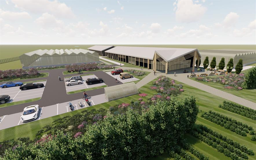 Architect concept renders for GreenTech Hub at NIAB EMR