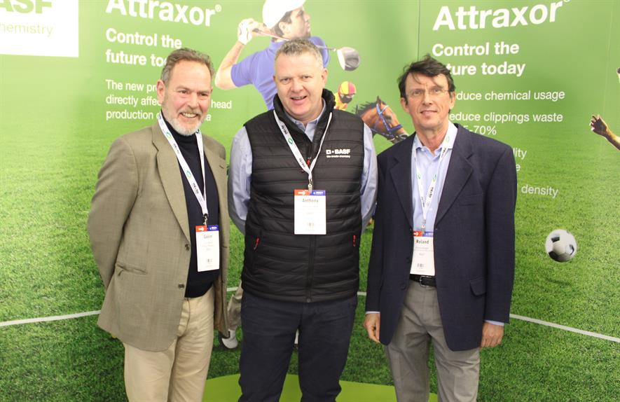 Attraxor launch at BTME 2020. (left to right) Gavin Wood, Anthony O'Hare, Roland Ringle - image: BASF