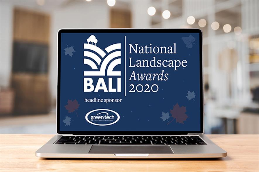 The BALI National Landscape Awards were held virtually for the first time in their history - credit: BALI