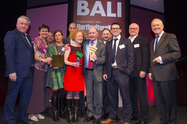 John Melmoe (centre) with six-time Grand Award winners Willerby at the BALI Awards 2016: Image: HW