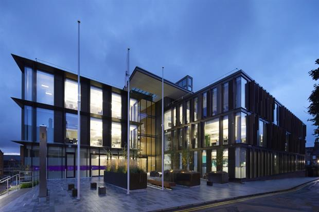 Northamptonshire County Council's One Angel Square headquarters. Image: Hufton+Crow
