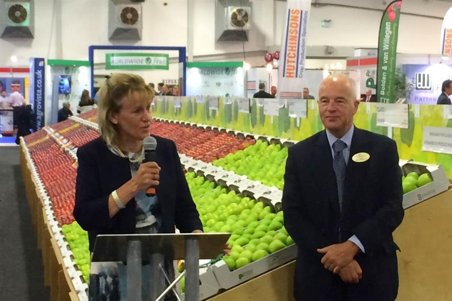 Minette Batters and Michael Jack open the National Fruit Show - image:HW
