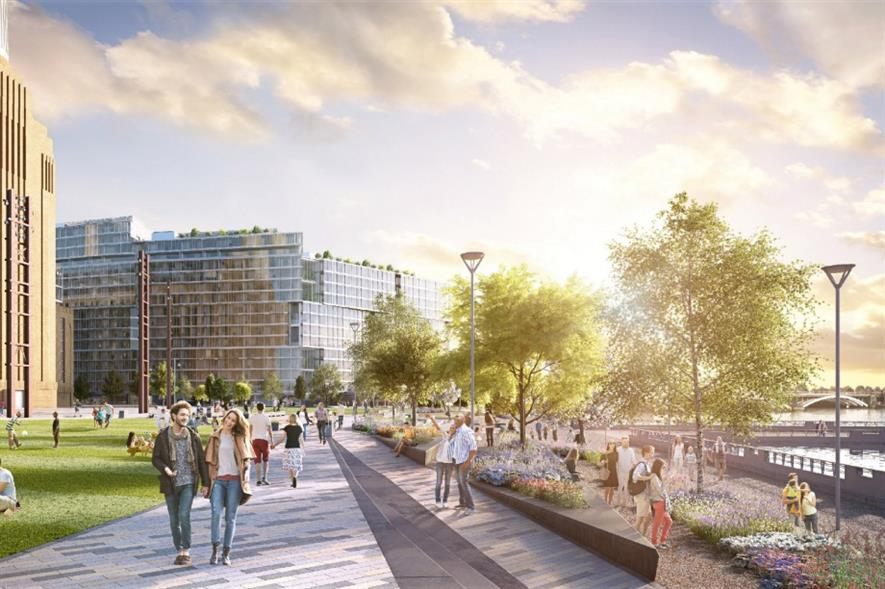 Artist's impression of Battersea Power Station public park. Image: Supplied
