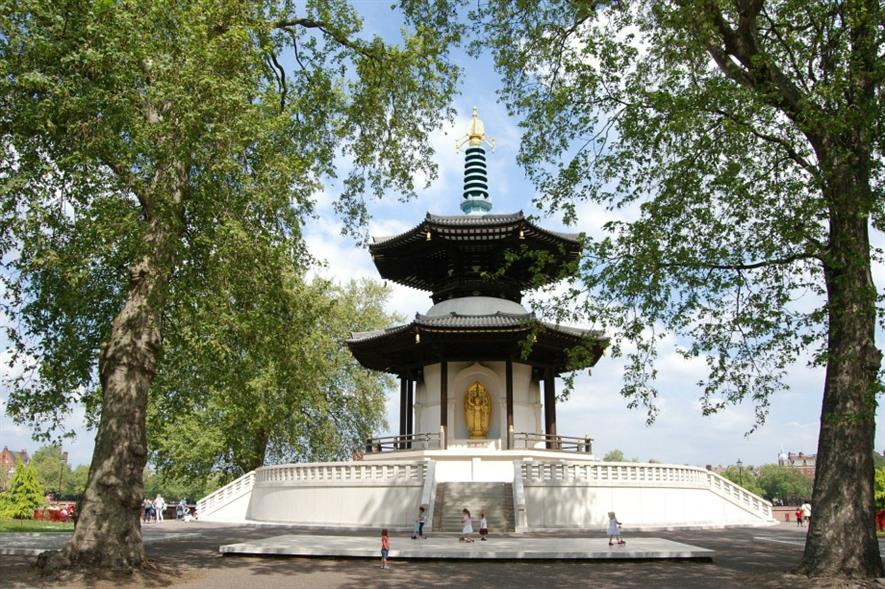 The pagoda at Battersea Park on the banks of the Thames. Image: Pixabay