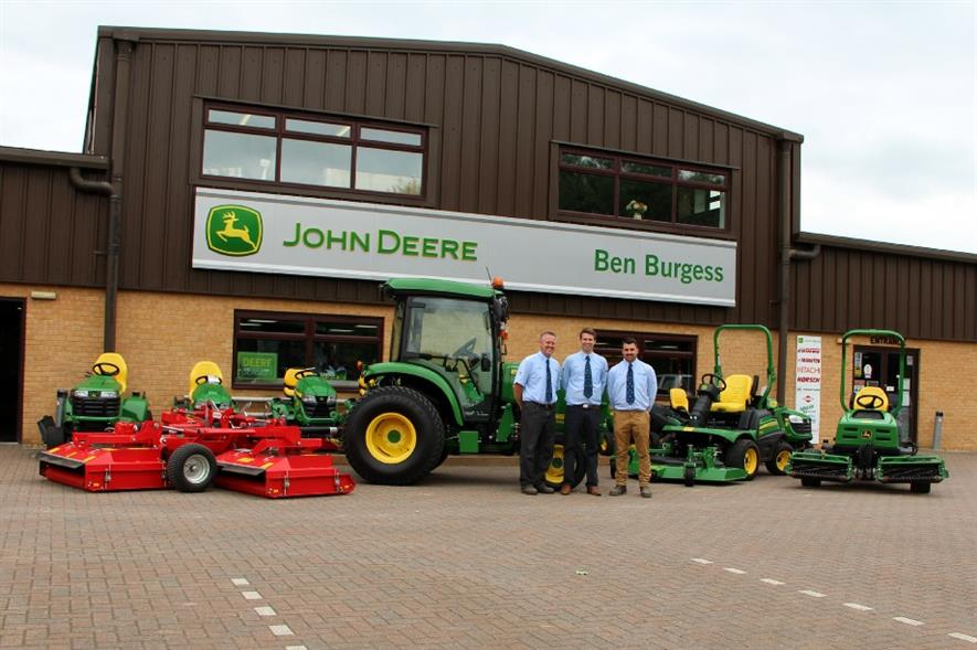 Ben Burgess expands turf sales area. Image: Supplied