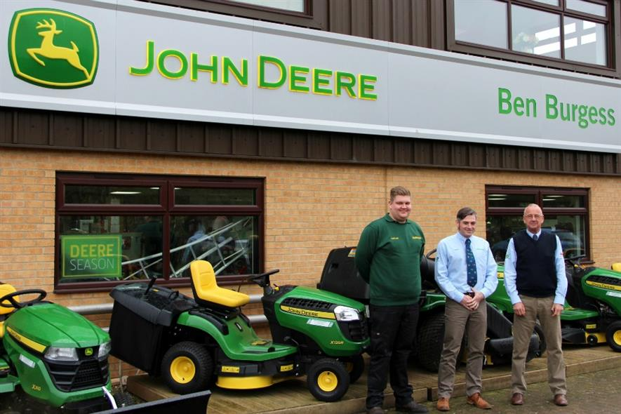 L-R Nathan Setchfield, Johnathan Harpham and Ben Burgess Coates branch manager Steve Trostler. Image: Supplied