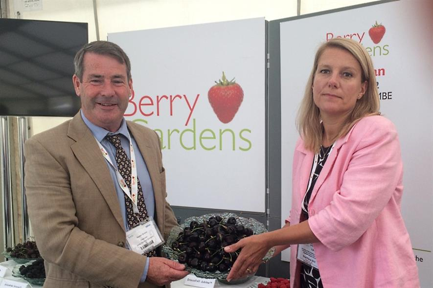 Brooks and Green at Fruit Focus yesterday - image: HW
