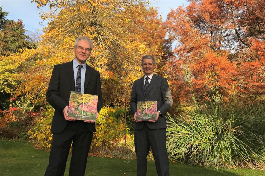 Friends of the (L-R) University Botanic Garden chair Dr Mark McGilchrist and University of Dundee interim principal professor David Maguire - credit: University of Dundee