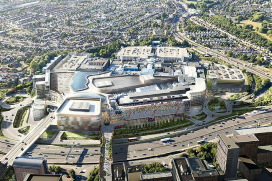 Image of how the new Brent Cross could look according to plans. Image: Chapman Taylor