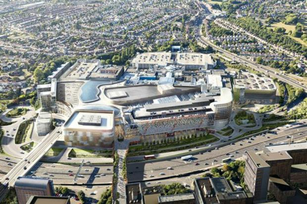 Vision for a refreshed Brent Cross. Image:Chapman Taylor