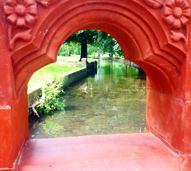 Wandle's Beddington Park seen through its bridge. Image: The Living Wandle Team