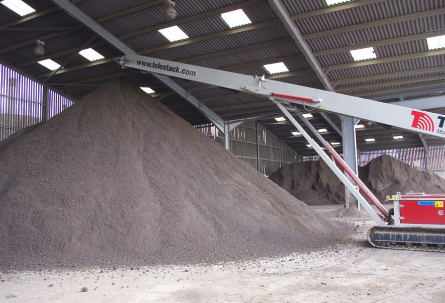 British Sugar TOPSOIL's product storage facility at Bury St Edmunds, Suffolk