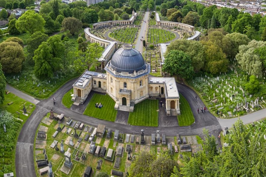 The HLF funded the restoration of Brompton Cemetery, London. Image: Copyright Royal Parks