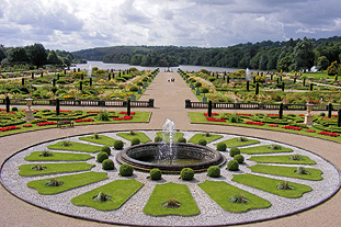 The upper flower garden recreated Charles Barry's design - image: Trentham Estate