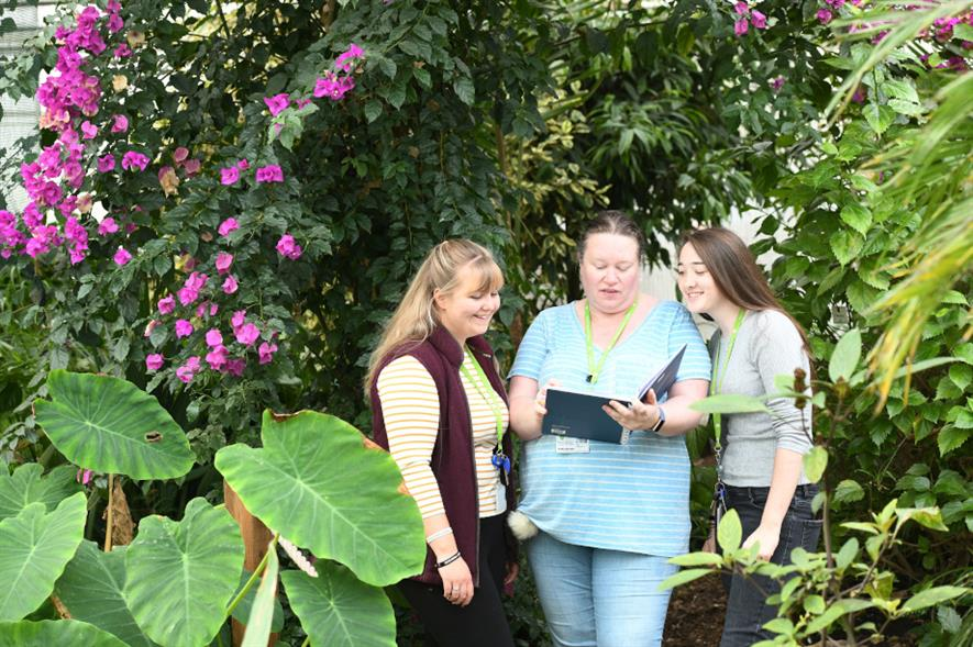 Students learning in one of the gardens at Writtle University College (WUC) - credit: WUC