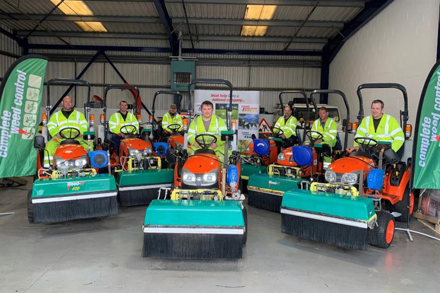 Complete Weed Control's fleet of Weed-IT machines - credit: Complete Weed Control