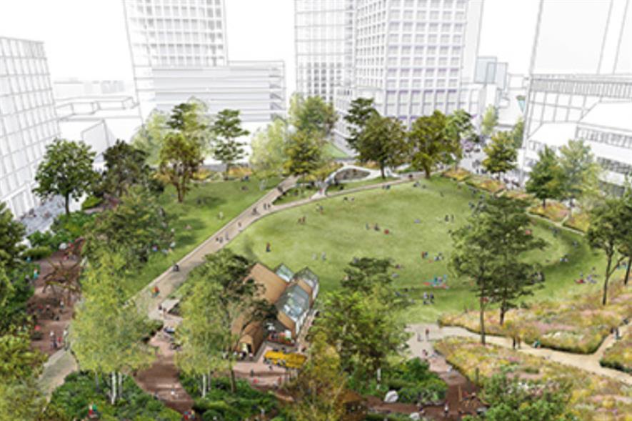 New park provides focus for community. Image: Townshend Landscape Architect