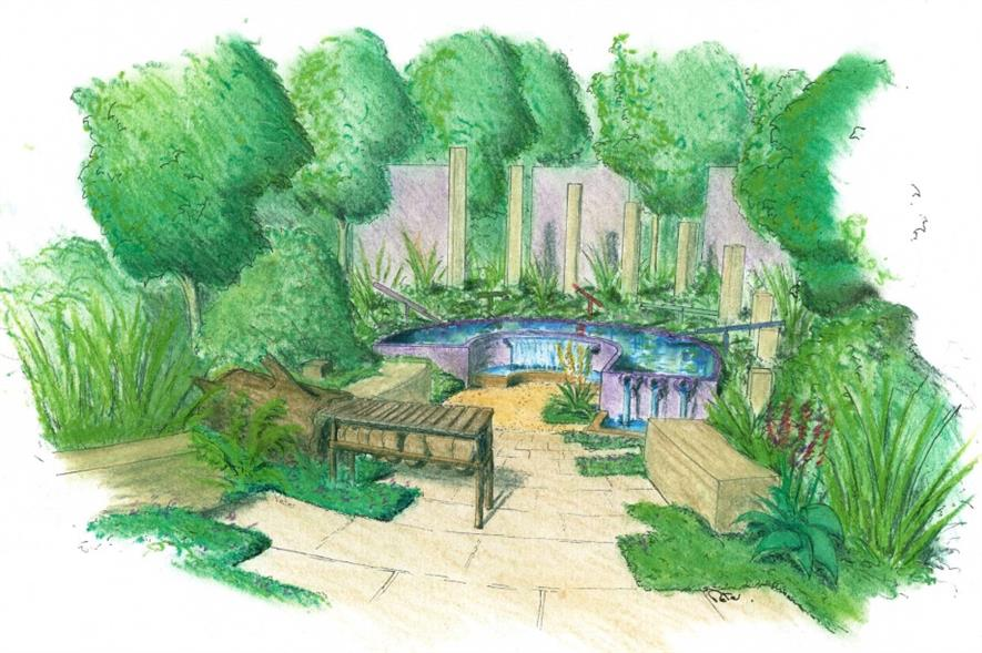 Artist's impression of the Together We Can garden. Image: Supplied