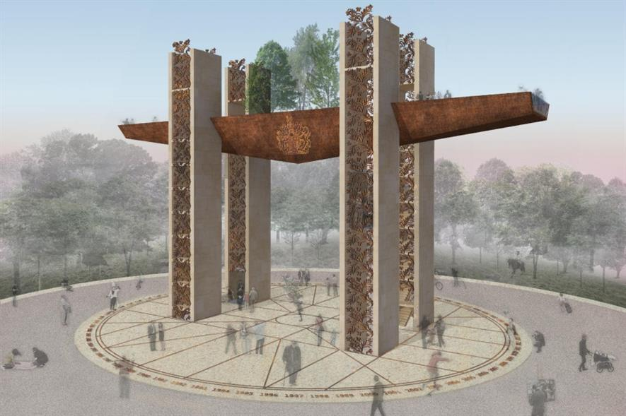 The winning triumphal arch design. Image: Chris Dyson Architects