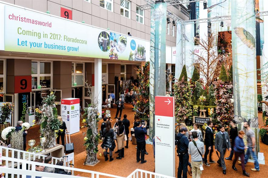 Floradecora given product hall at Christmasworld for first time