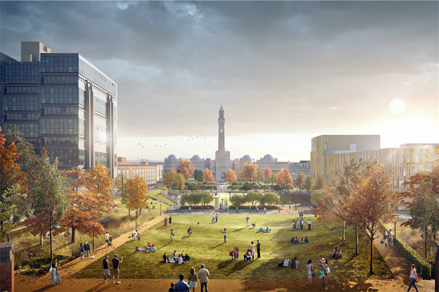 Churchman's design has clocktower views from green space