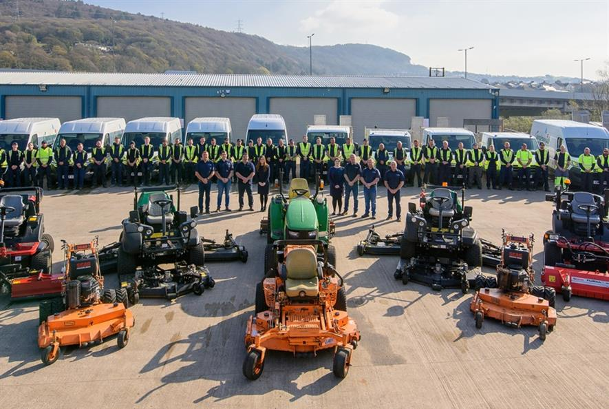 Some of the team at the depot in Baglan, Neath Port Talbot. Image: Countrywide Grounds Maintenance South Wales
