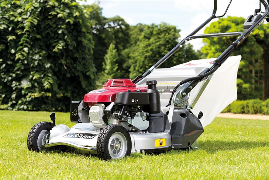 Rear-roller mower: 21in model from KAAZ has hydrostatic gearbox for speed control - Danarm Machinery