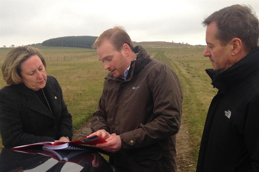 Trevelyan, Howard and Goodall at the Doddington site