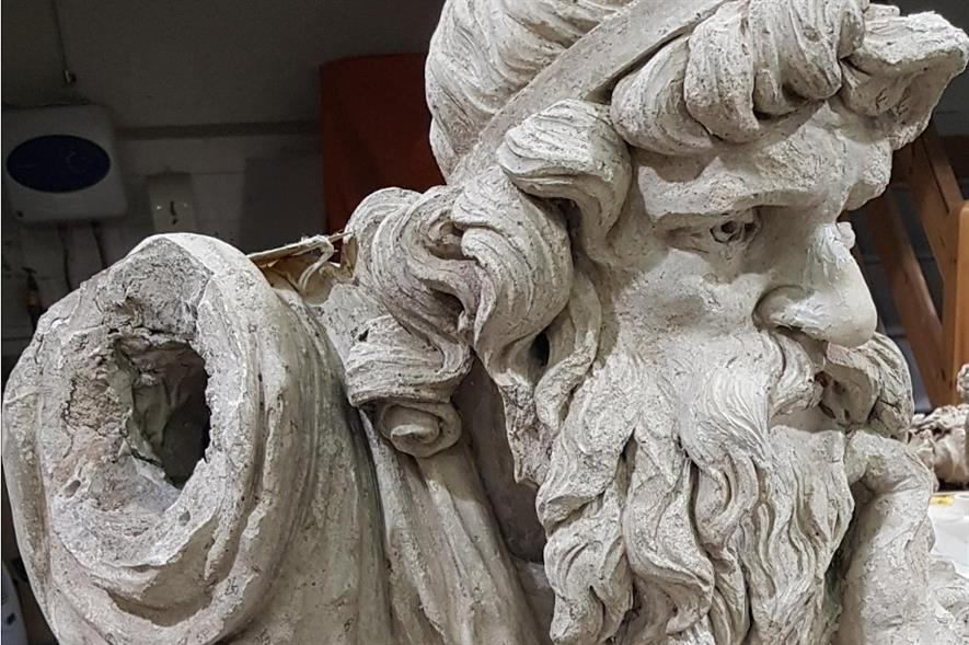 The Druid statue from Chichester's Priory Park - image: Cliveden Conservation