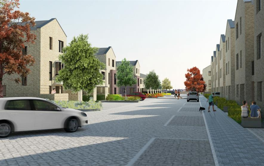 The development features front and back gardens as well as amenity areas. Image: Catalyst Housing