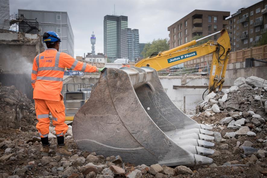 Enabling works at Euston Station - credit: HS2 Ltd