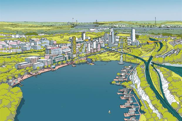 An image from the masterplan shows green space a priority. Image: EDC