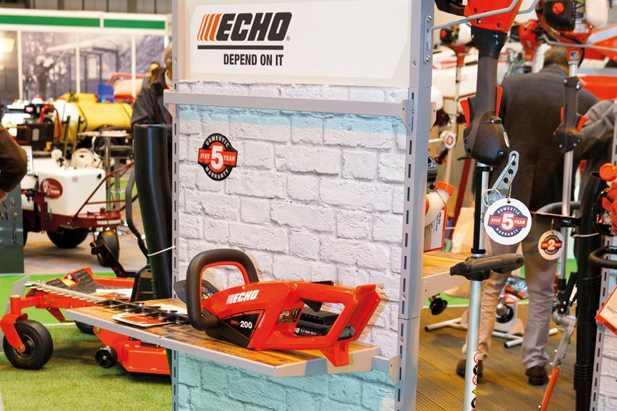 Echo has joined the Li-ion market with a range of 50V equipment including hedge trimmer, brushcutter and power blower - image: HW